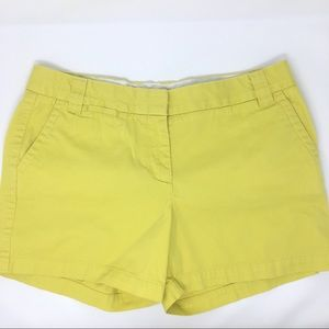 J. Crew shorts broken-in chino city fit yellow